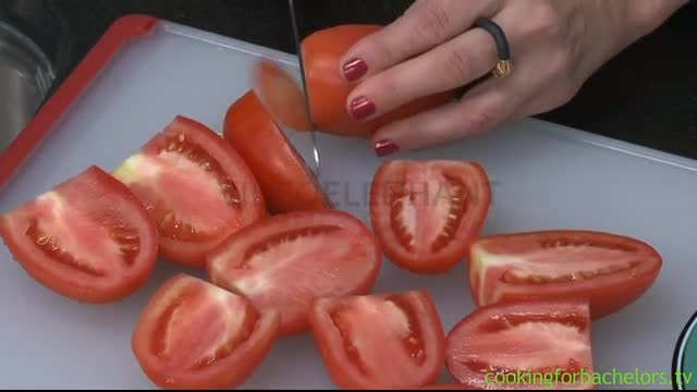 Cooking For Bachelors Tomato Prep