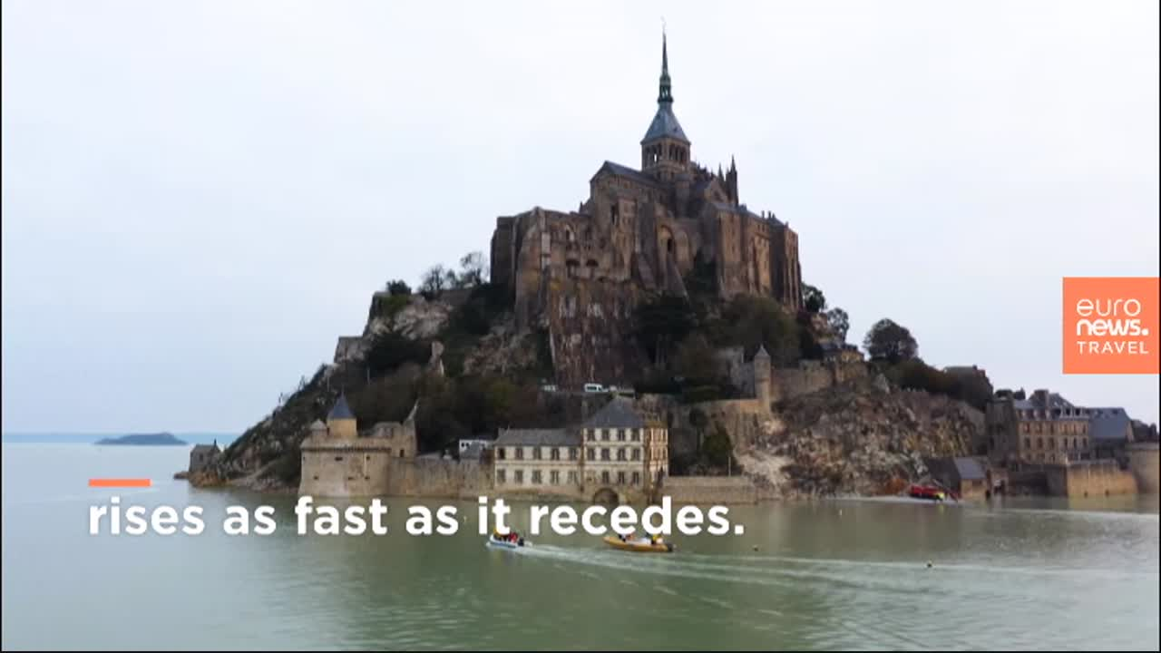 France's famous monument, Mont-Saint-Michel is cut off from the world