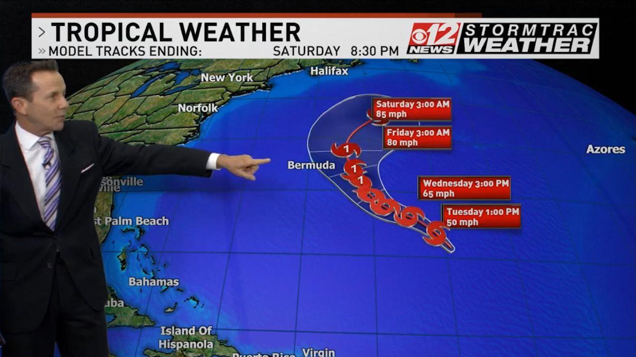 26th named storm of the season Tropical Storm Epsilon forecast to become hurricane Wednesday