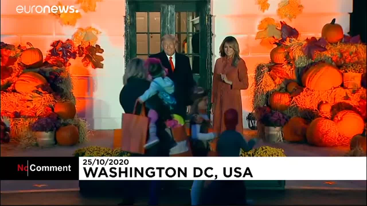Boy dressed as Donald Trump for Halloween catches president's eye