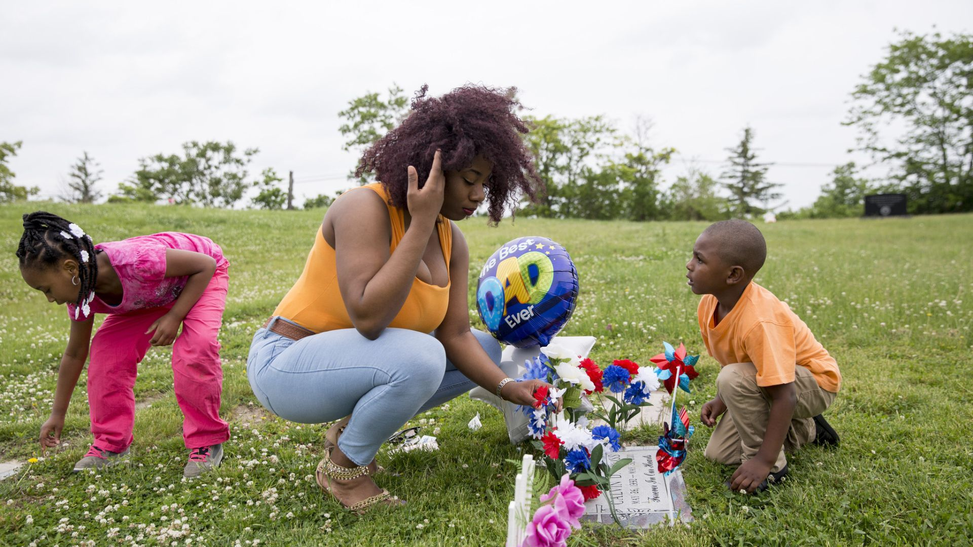 Calvin Cross' family visits his grave for his birthday