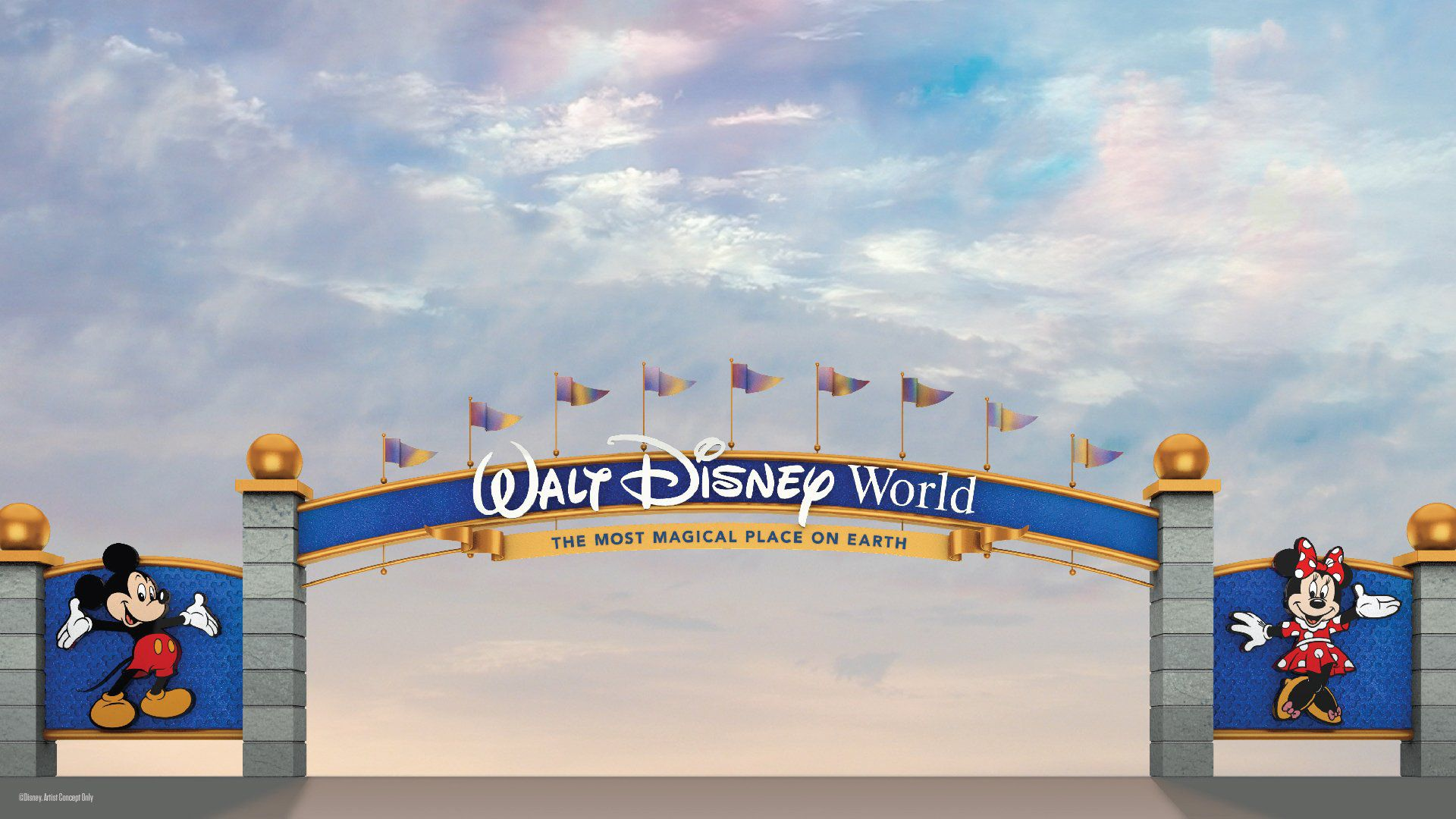 Disney World entrance archways are getting makeovers