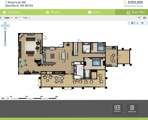 Virtual tour hosting platform for real estate real for Floor plans for real estate marketing