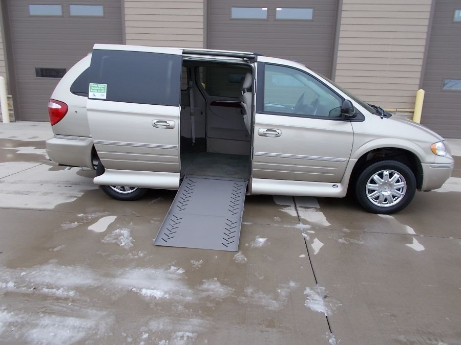 Gold Chrysler Town and Country with Side Entry Automatic In Floor ramp