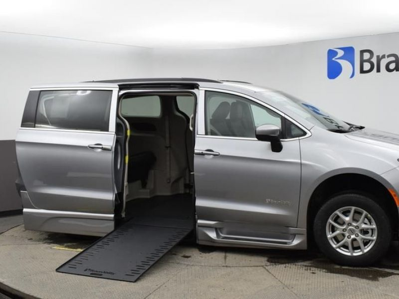 Silver Chrysler Voyager with Side Entry Automatic In Floor ramp