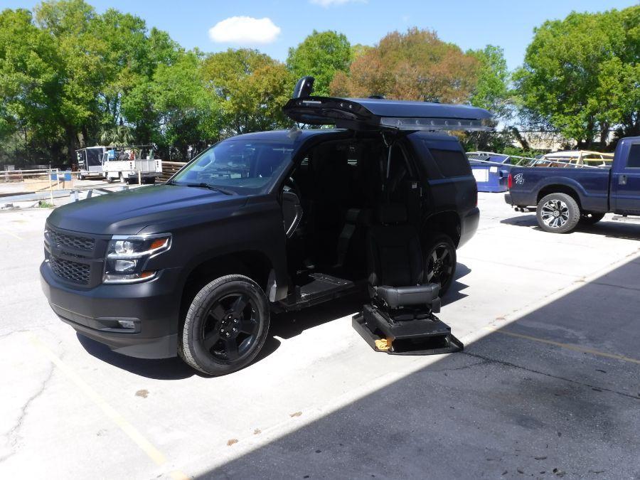 Black Chevrolet Tahoe with N/A N/A N/A ramp