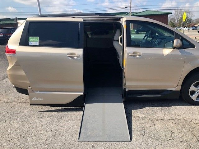 Gold Toyota Sienna with Side Entry Automatic In Floor ramp