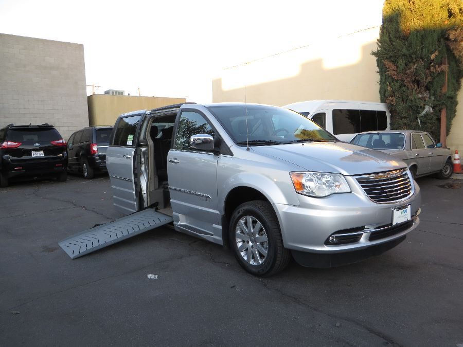 Silver Chrysler Town and Country with    ramp