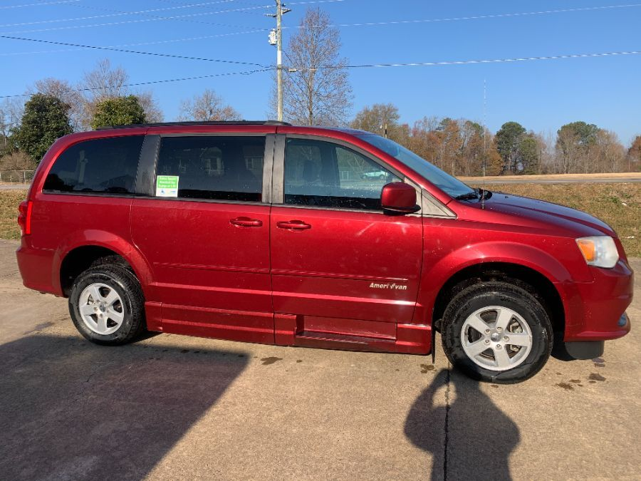 Red Dodge Grand Caravan with Side Entry Automatic Fold Out ramp