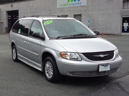 Black Chrysler Town and Country with Side Entry Automatic Fold Out ramp
