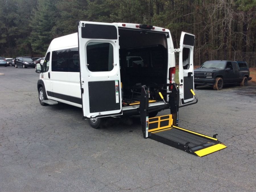 White Ram ProMaster 2500 with Rear Entry Automatic Fold Out ramp