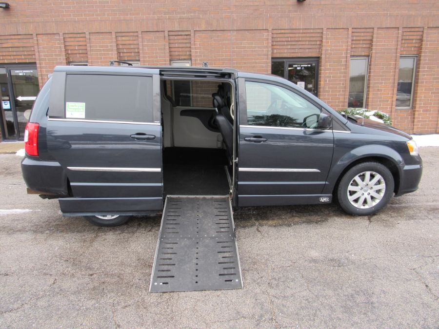 Blue Chrysler Town and Country with Side Entry Automatic  ramp