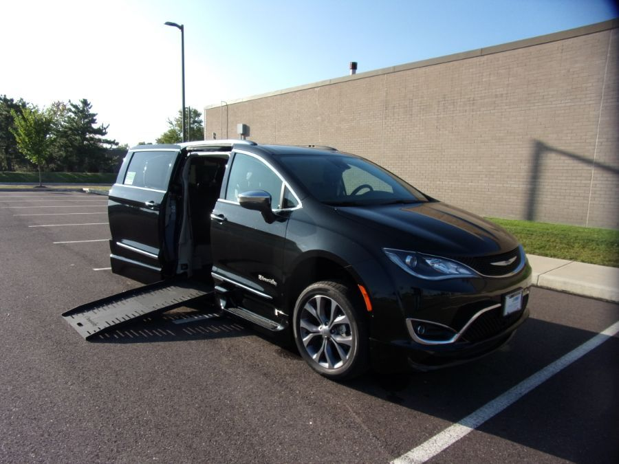 Black Chrysler Pacifica with Side Entry Automatic Fold Out ramp