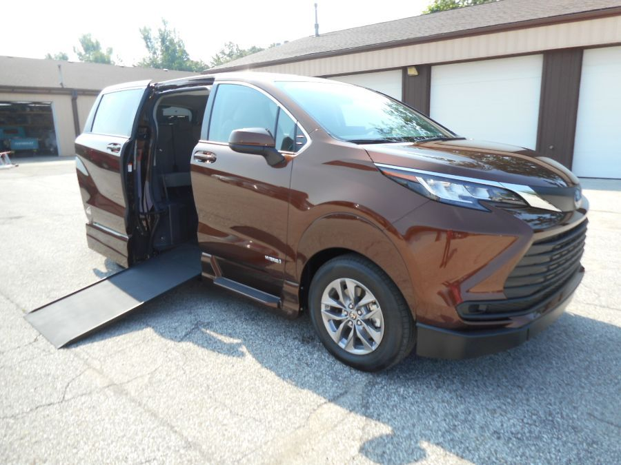 Orange Toyota Sienna with Side Entry Automatic In Floor ramp