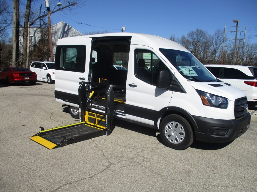 White Ford Transit Passenger with Side Entry N/A N/A ramp