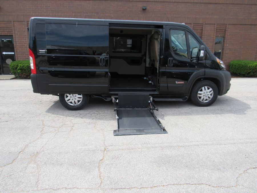 Black Ram ProMaster Cargo with Side Entry N/A N/A ramp