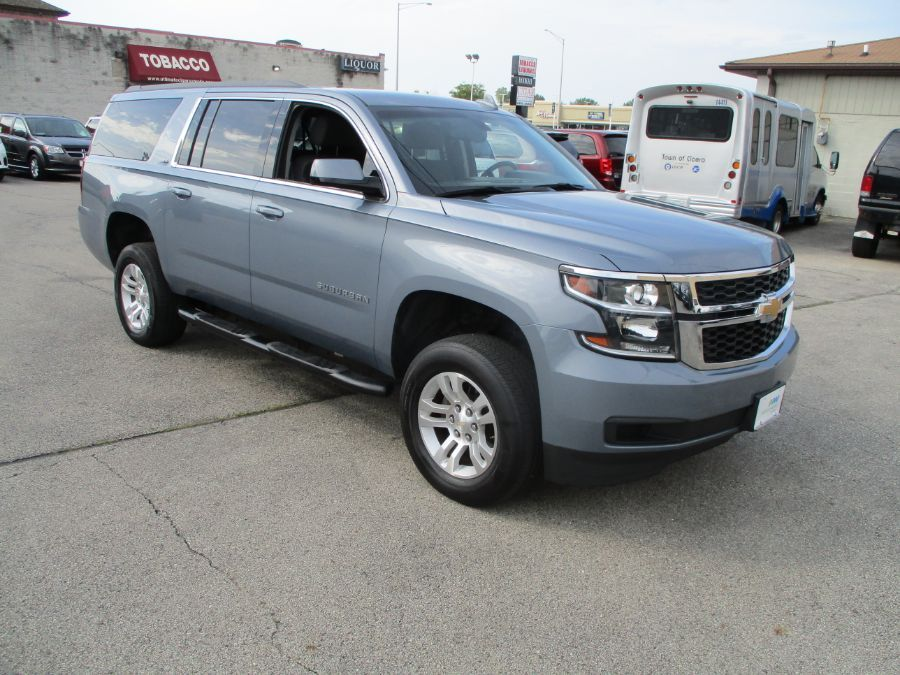 Gray Chevrolet Suburban with Side Entry Automatic In Floor ramp