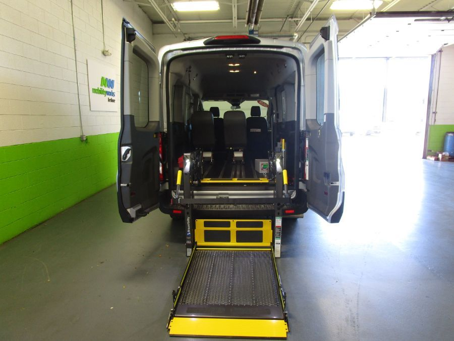 Silver Ford T150 with Rear Entry Automatic Fold Out ramp