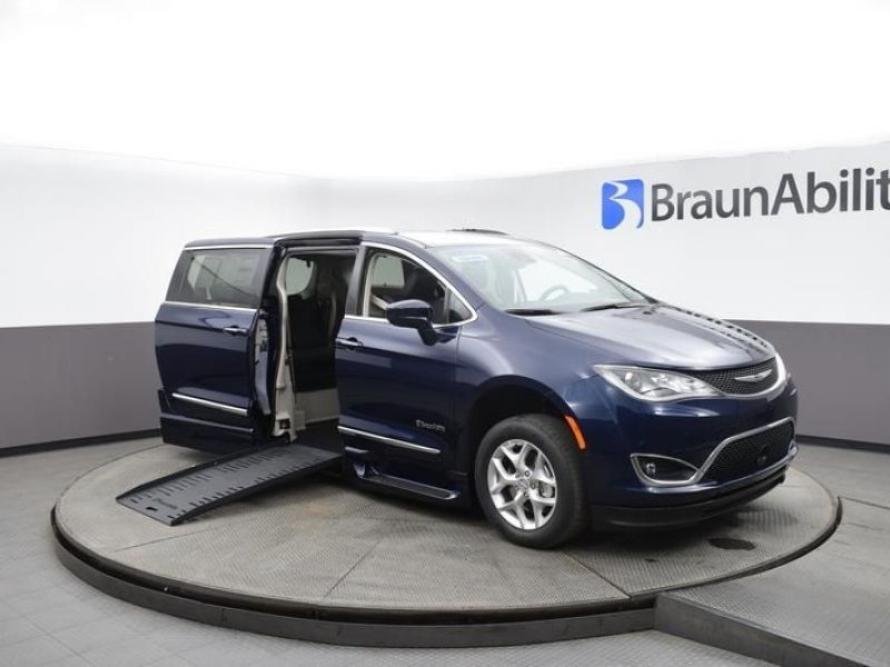 Blue Chrysler Pacifica with Side Entry Automatic Fold Out ramp