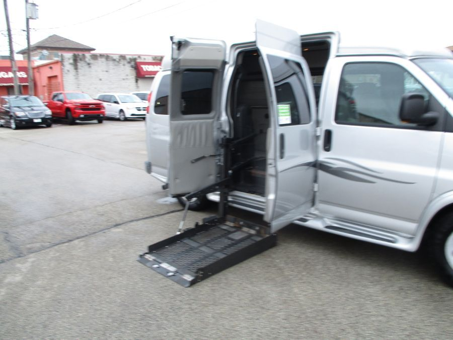 Silver Chevrolet Express Cargo with    ramp