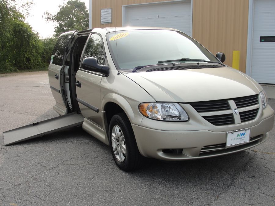 Brown Dodge Grand Caravan with Side Entry Automatic In Floor ramp
