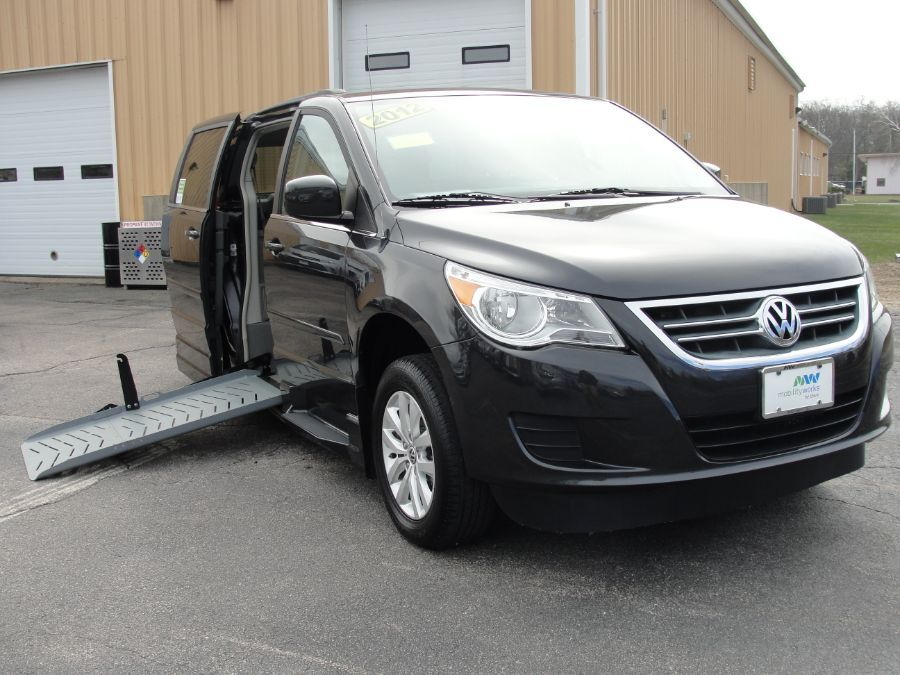 Gray Volkswagen Routan with Side Entry Automatic Fold Out ramp