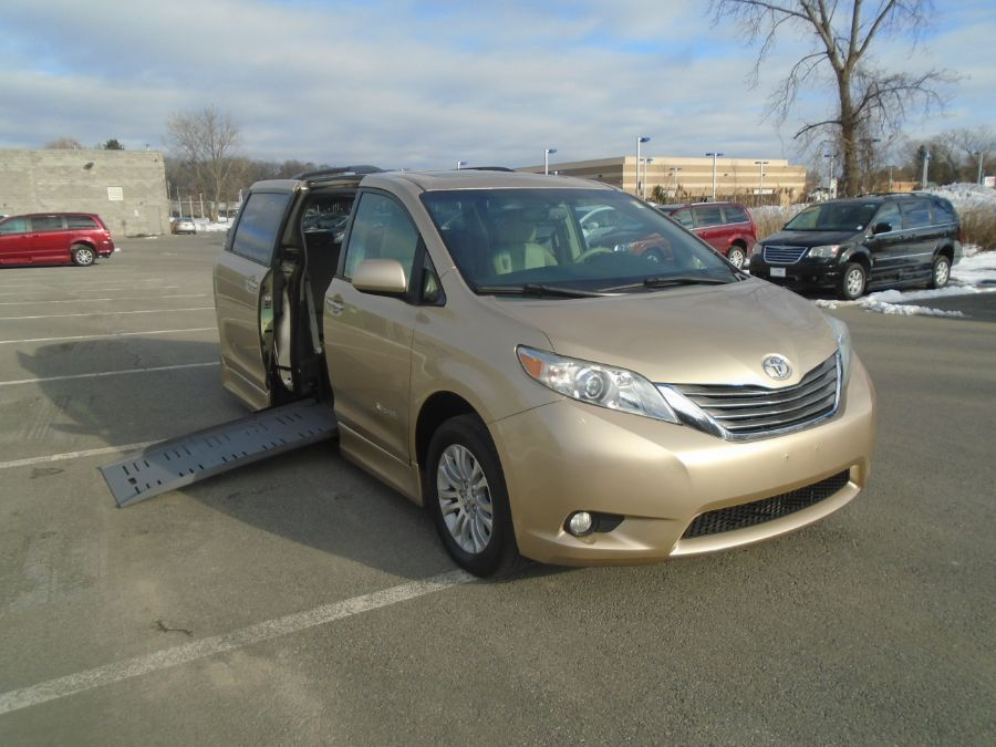 Gold Toyota Sienna with Side Entry Automatic Fold Out ramp
