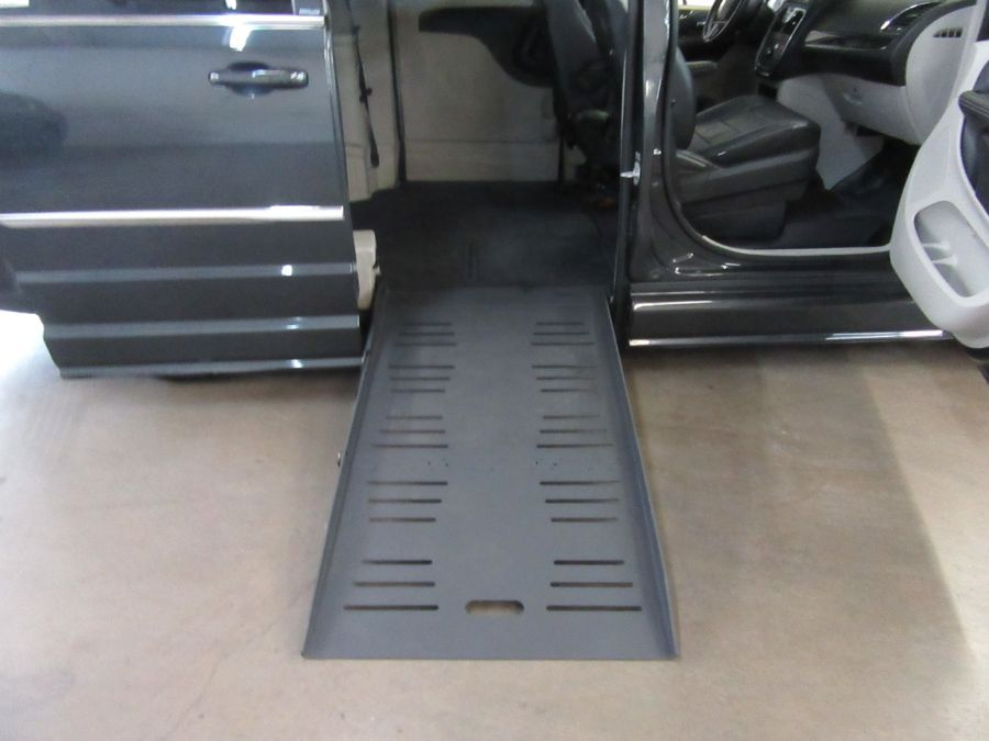 Gray Chrysler Town and Country with Side Entry Automatic Fold Out ramp