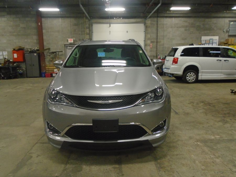 Silver Chrysler Pacifica with Side Entry Automatic Fold Out ramp