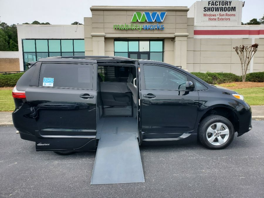 Black Toyota Sienna with Side Entry Automatic In Floor ramp