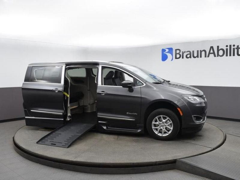 Gray Chrysler Pacifica with Side Entry Automatic Fold Out ramp