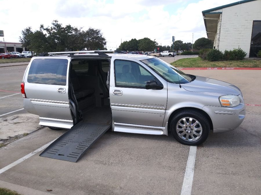 Silver Buick Terraza with Side Entry Automatic Fold Out ramp