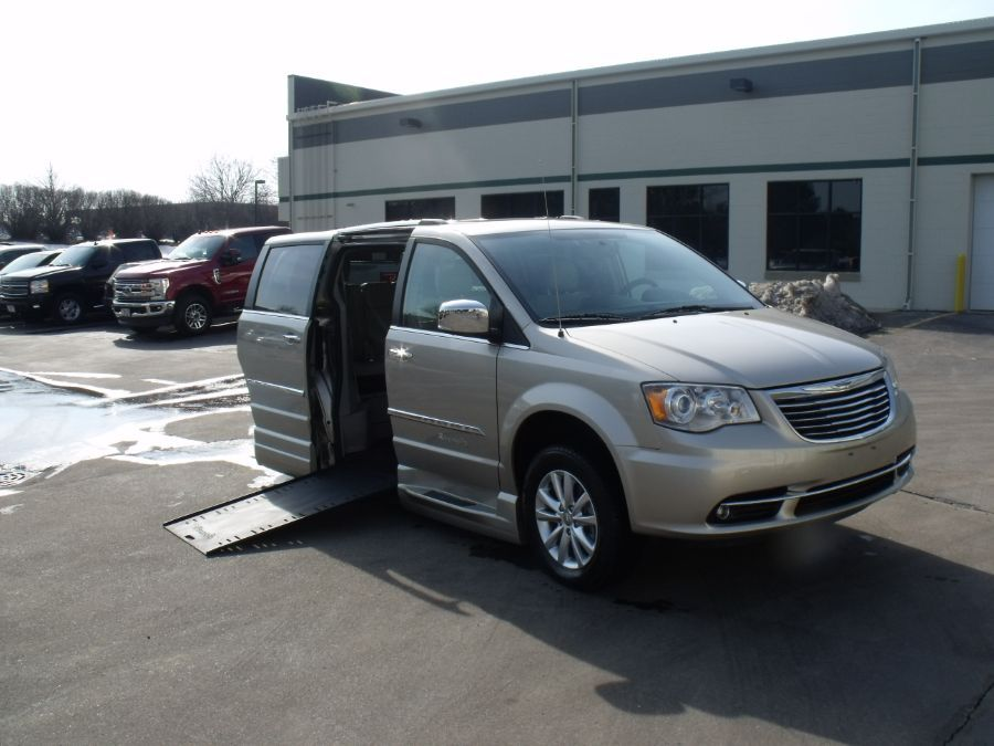 Brown Chrysler Town and Country with Side Entry Automatic In Floor ramp