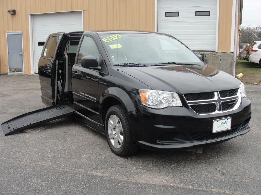 Black Dodge Grand Caravan with Side Entry Manual  ramp