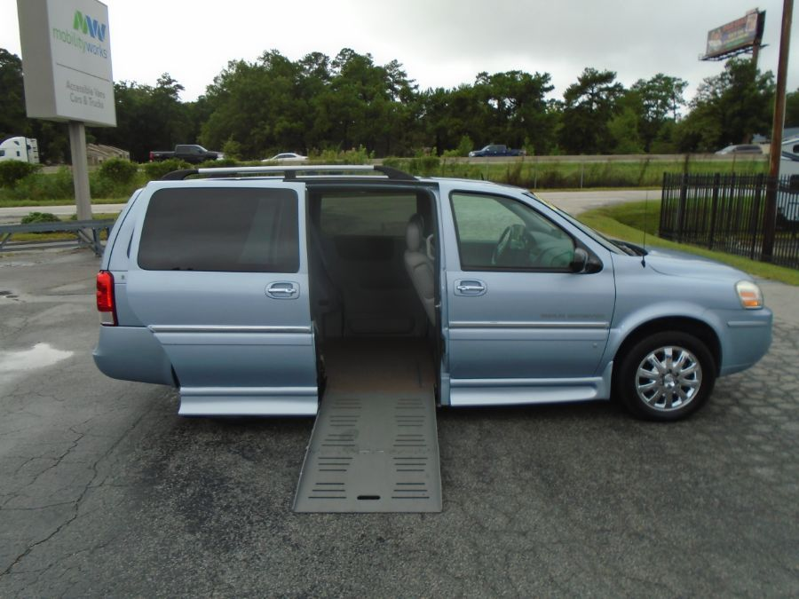 Blue Buick Terraza with Side Entry Automatic Fold Out ramp