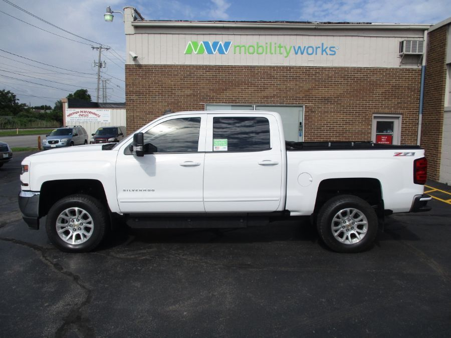 White Chevrolet Silverado 1500 with Side Entry Automatic In Floor ramp