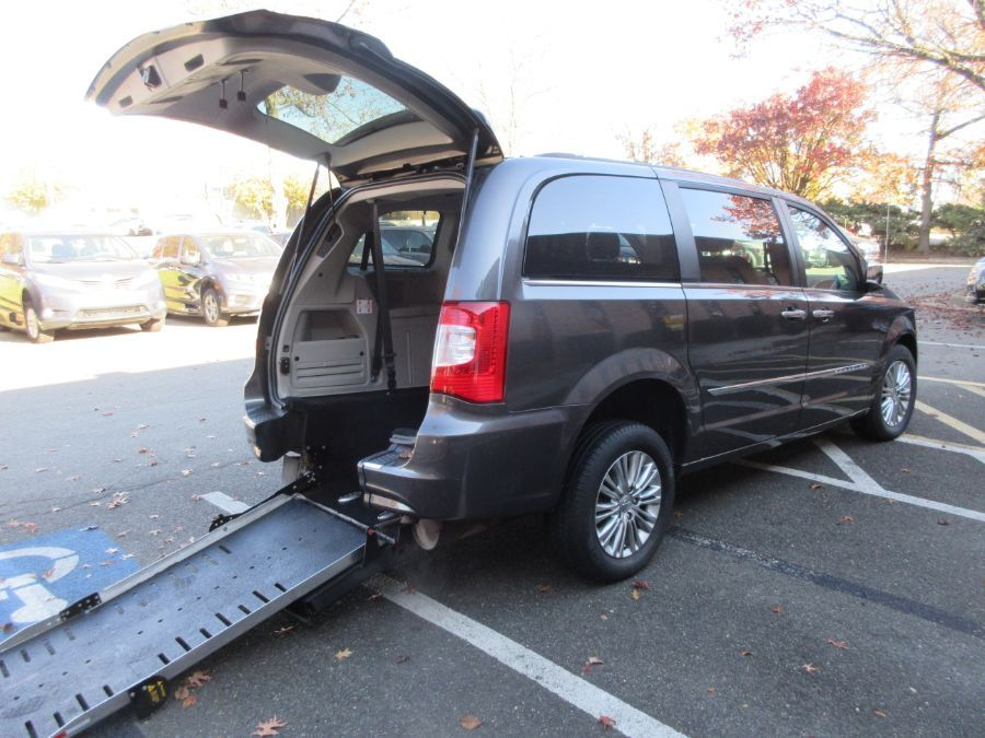 Gray Chrysler Town and Country with Rear Entry Automatic Fold Out ramp