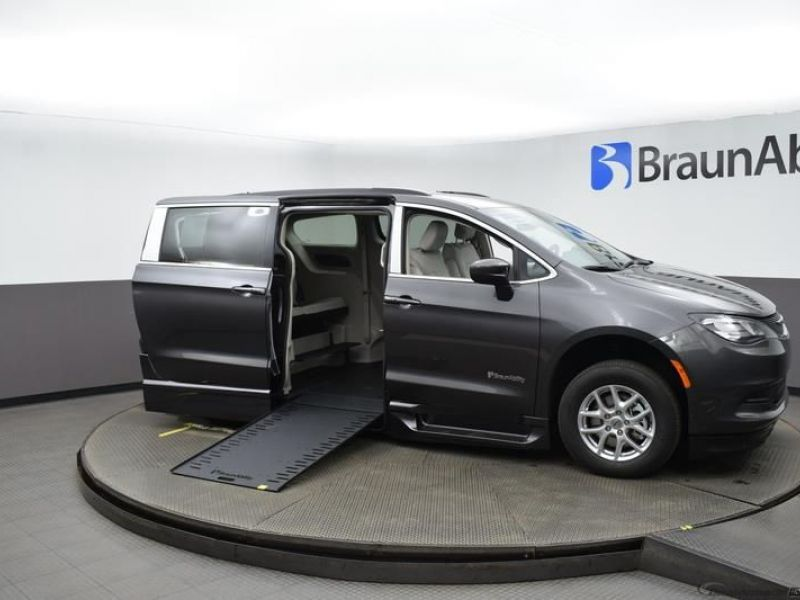 Gray Chrysler Voyager with Side Entry Automatic In Floor ramp
