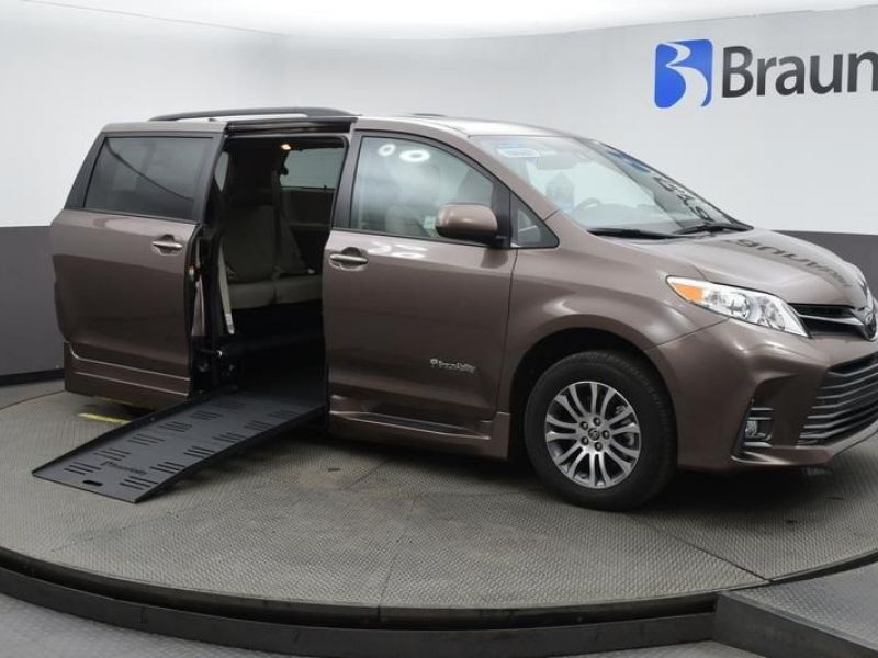 Brown Toyota Sienna with Side Entry Automatic Fold Out ramp