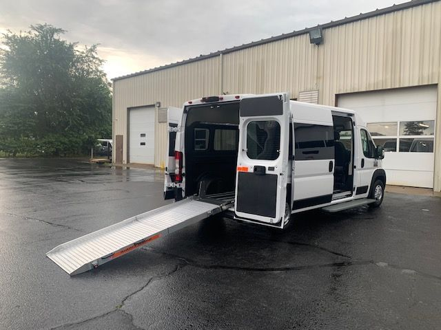 White Ram ProMaster 2500 with Rear Entry Manual Fold Out ramp