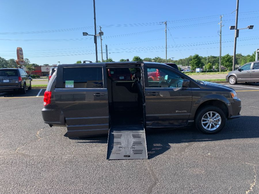 Gray Dodge Grand Caravan with Side Entry Automatic  ramp