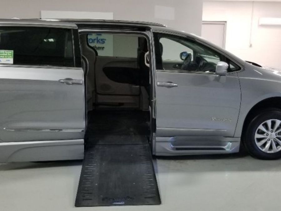 Silver Chrysler Pacifica with Side Entry Automatic In Floor ramp