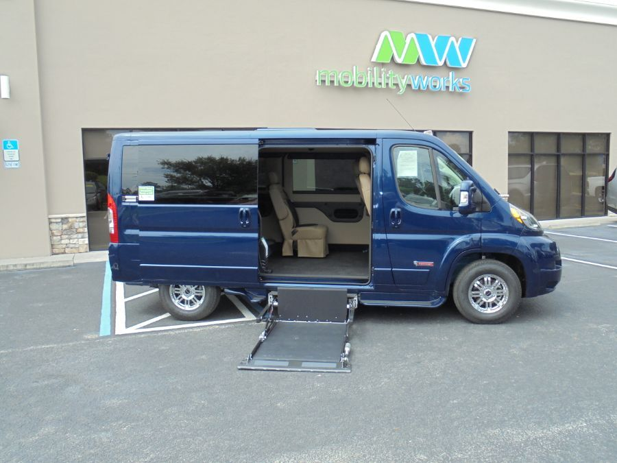 Blue Ram ProMaster Cargo with Side Entry   ramp