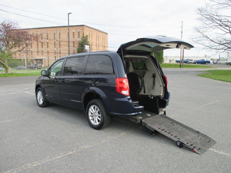 Blue Dodge Grand Caravan with Rear Entry Manual  ramp