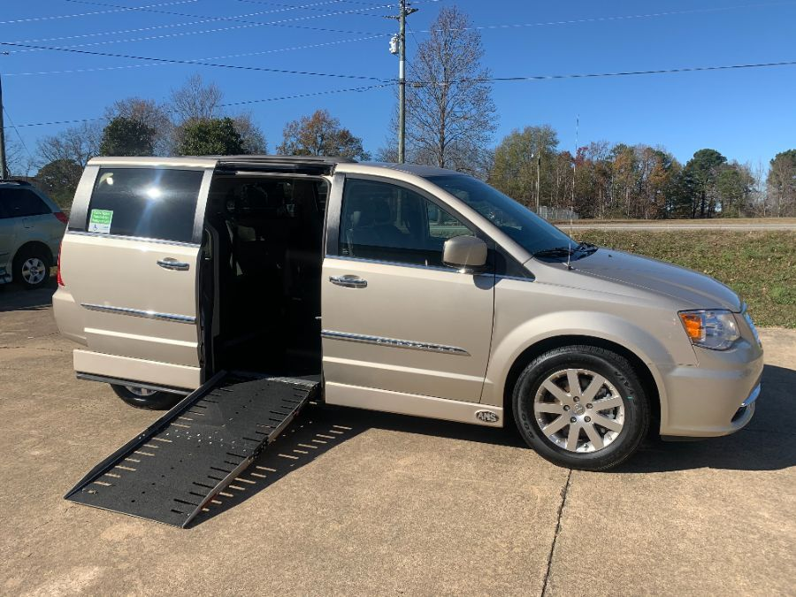 Brown Chrysler Town and Country with Side Entry Automatic Fold Out ramp