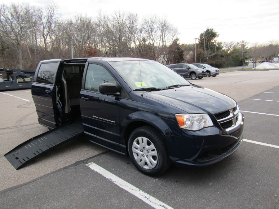 Blue Dodge Grand Caravan with Side Entry Manual  ramp