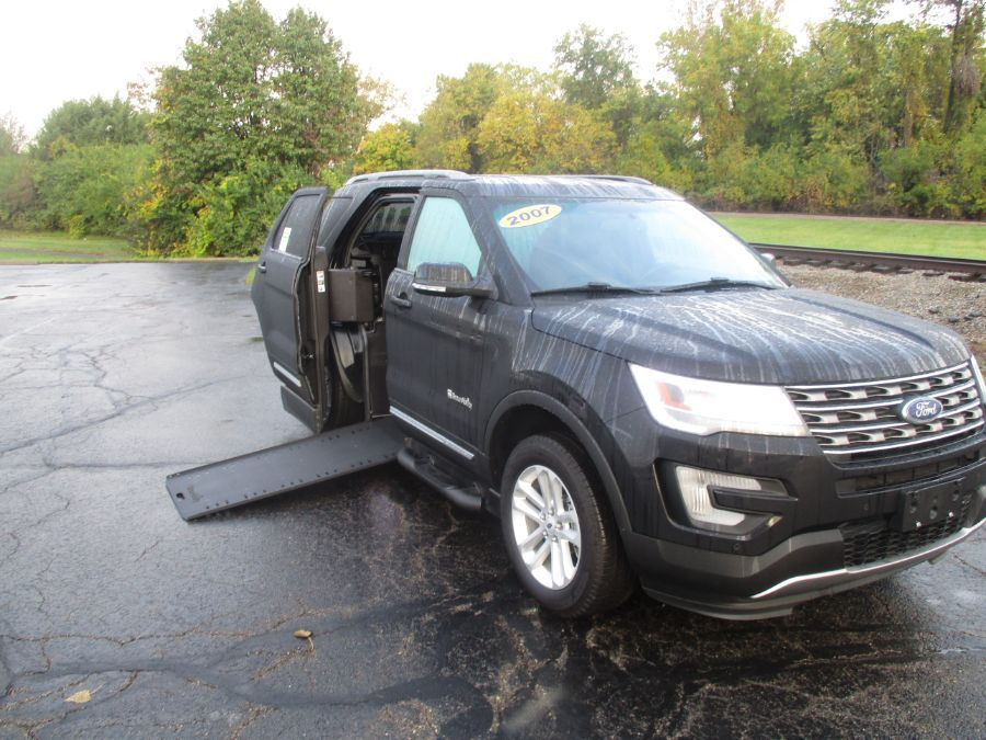 Black Ford Explorer with Side Entry Automatic In Floor ramp