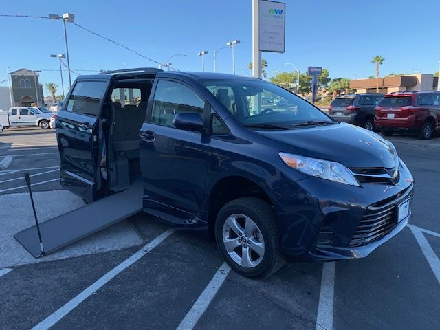 Blue Toyota Sienna with Side Entry Manual In Floor ramp