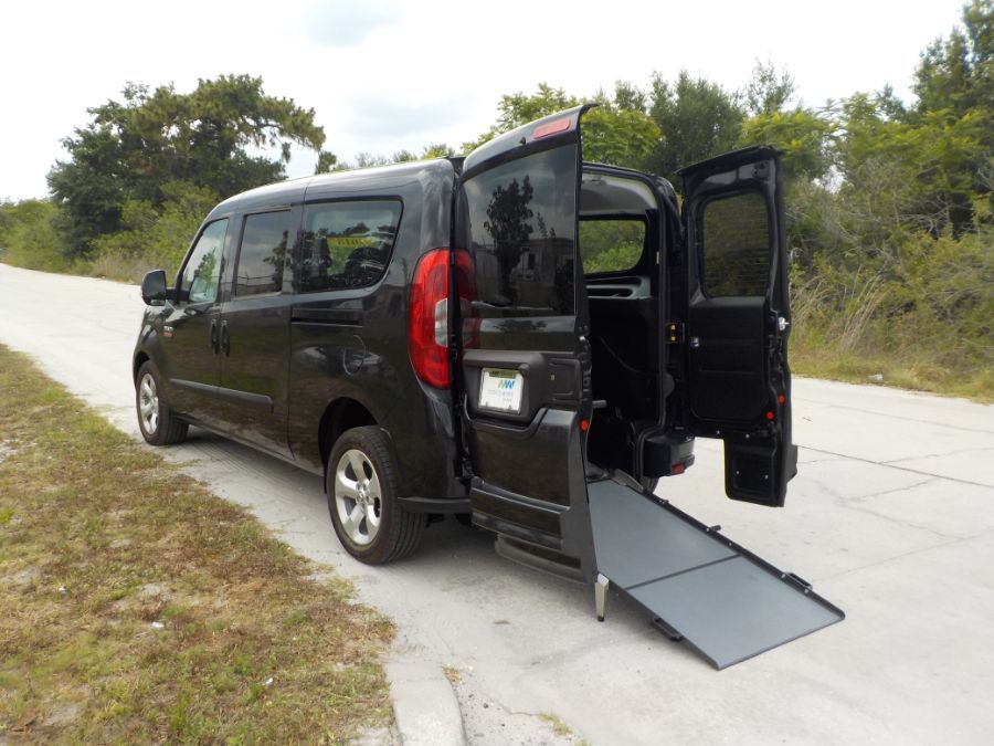 Black Ram ProMaster with Rear Entry Manual Fold Out ramp