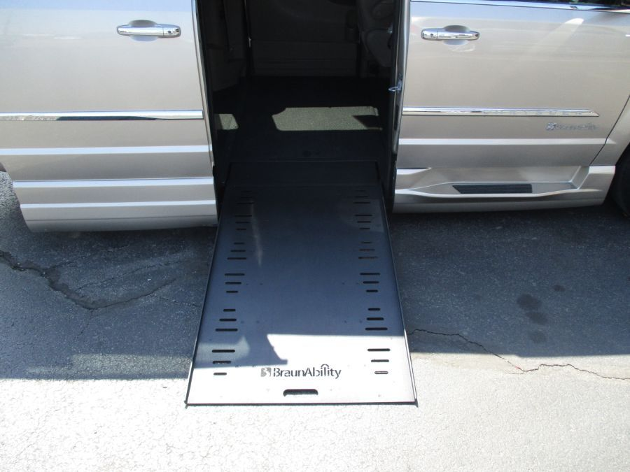 Gold Chrysler Town and Country with Side Entry Automatic Fold Out ramp